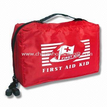 First-aid Kit/Bag/Small Set with Nylon Pouch, Alcohol Pad, Scissors, Bandage and Blood Stopper