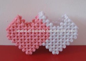 Beaded heart Shape  Pen Holder