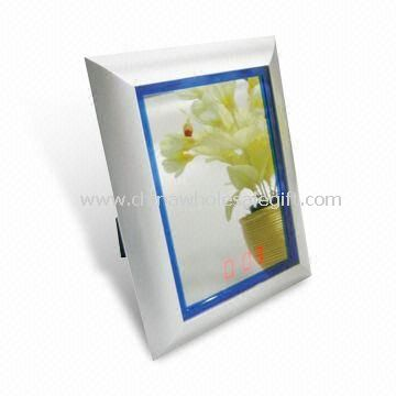 Square Sensor Mirror Clock with LED
