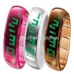 Clear Transparent Band LED Watch small picture