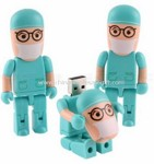 Cartoon doctor USB Flash Drive small picture