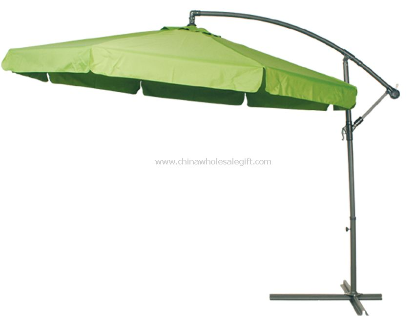 Aluminum Black 11-foot Outdoor Umbrella with Crank | Overstock.com