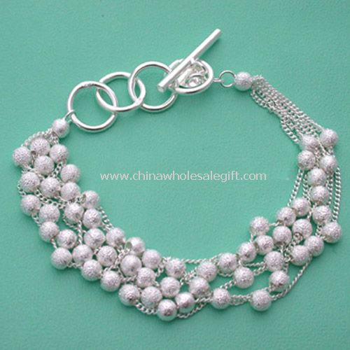 Clear glass bead necklaces - Bling Jewelry Clear 925 Sterling