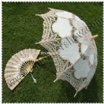 Wedding Lace Umbrella with Fans small picture