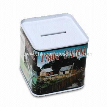 Metal Money Box in Square Shape