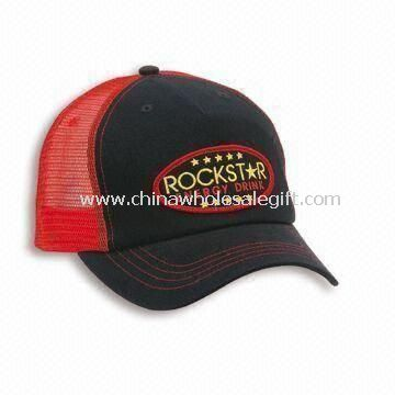 Mesh Trucker Promotional Cap with Embroidered Logo Plastic Snap Closure