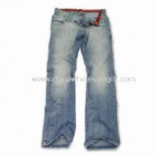 Womens Cotton Jeans with Contrast Fabric Inside China