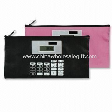 Casos de pluma con calculadora Solar