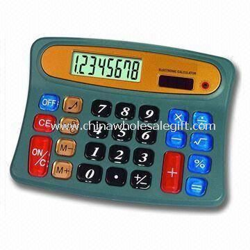 Calculadora solar oficina con 8 dígitos