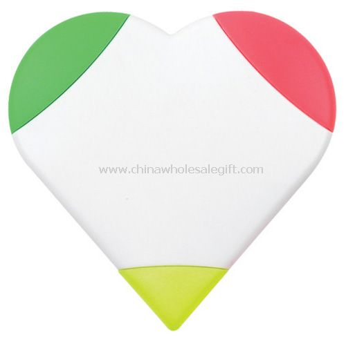 Heart shape highlighter pen set