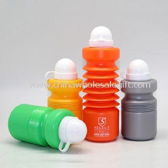 Botella de agua colorido deporte plegable