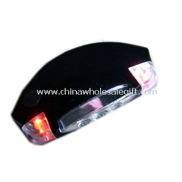 3pcs white LED and 2pcs red LED head Lamp