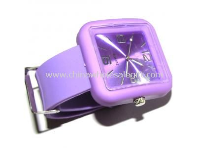 square head silicon watch