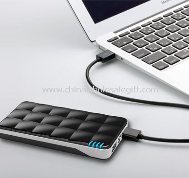 Power bank with rhombic surface