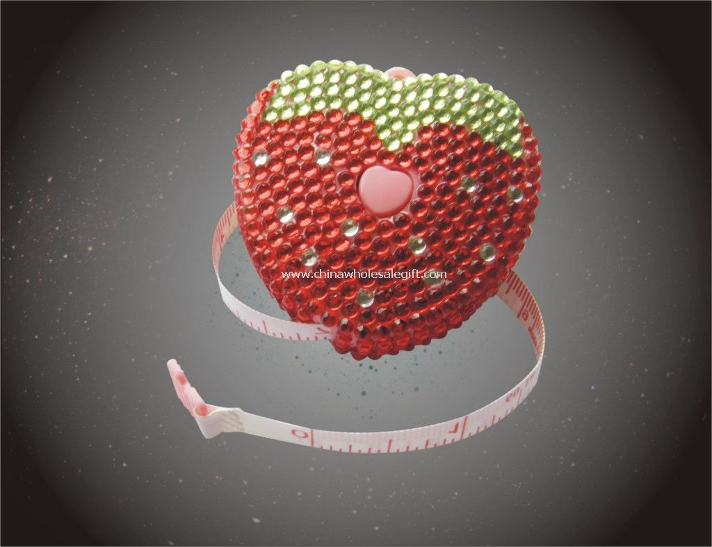 Heart shape Diamond Tape Measure