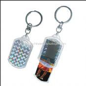 Change picture Solar bliking keychain