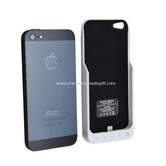 Caso de cargador de poder batería Backup Extemal 2000mAh para iPhone5