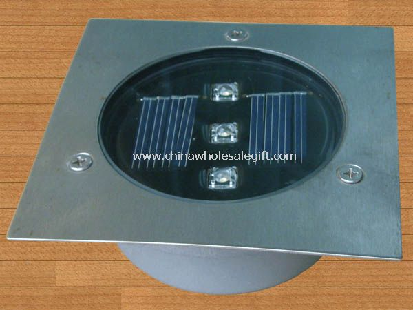3 led solar ground light