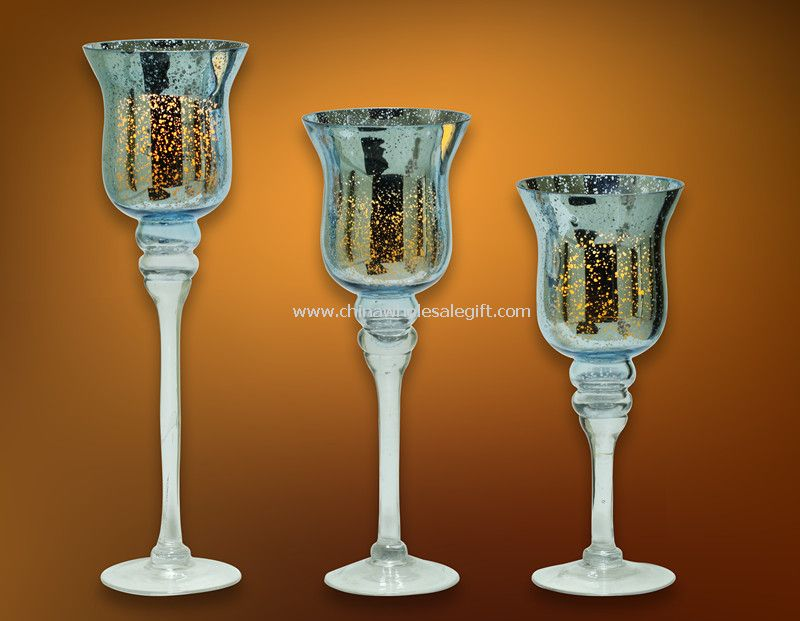 Mosaic Glass Cup LED Candle