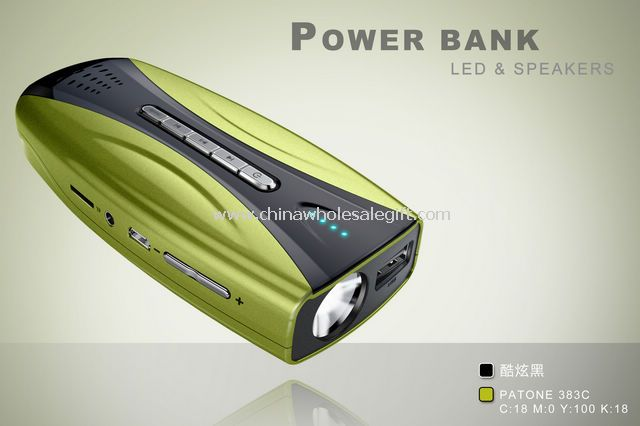power bank mp3 speaker FM radion and LED torch