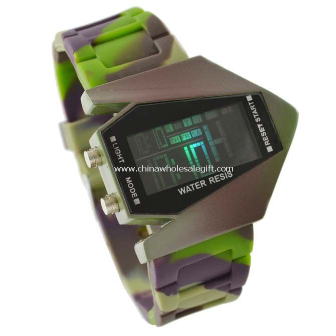 LED Army Green Watch