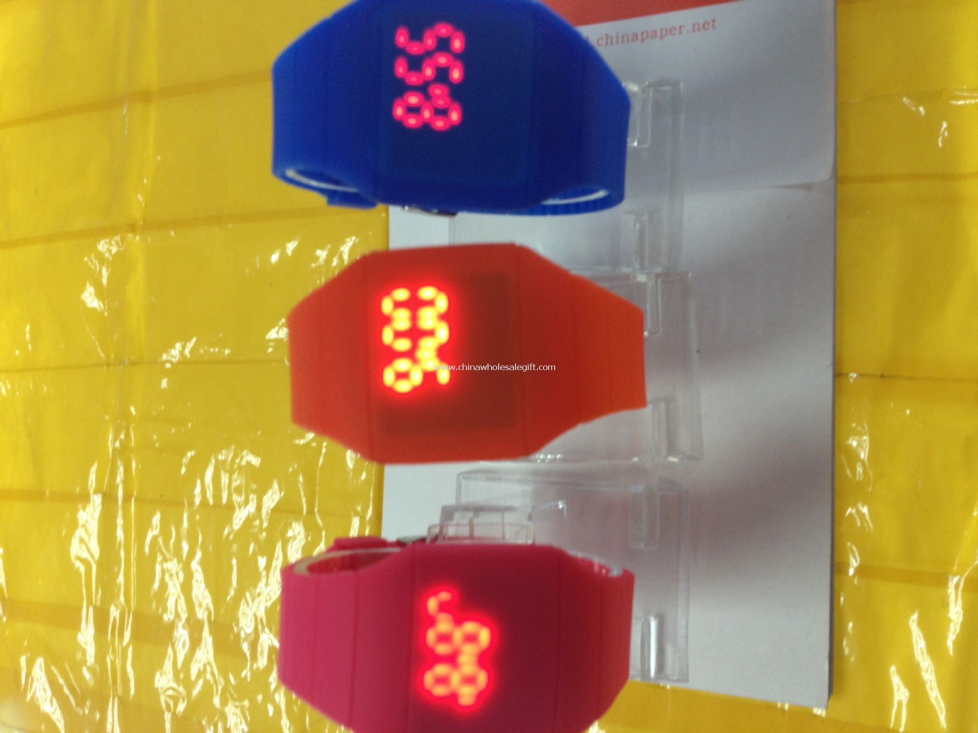 Reloj led silicona colorida