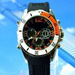 Sports watch with double movement small picture