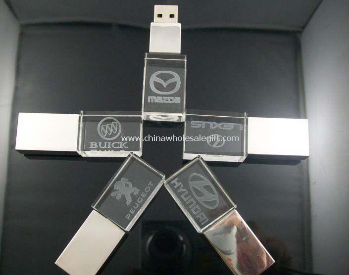 Crystal USB flash drive con logo 3D y brillante