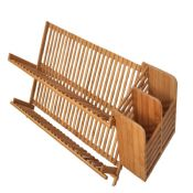 kitchen bamboo dish drying rack with utensil holder images