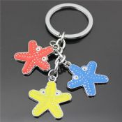 Metal Star Shaped Keychain images