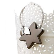 Star shaped souvenir metal keychain images