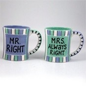 Mr. Right & Mrs. Always Right Wedding And Anniversary Coffee Mug Gift Set images