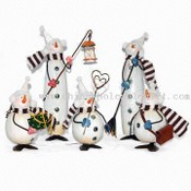 5.5/10-inch Metal Snowman Christmas Decoration images