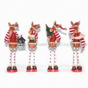 7.5-inch Polyresin Christmas Deers images