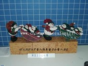 snowman with 3 little snowman in thetrolley 2/s images