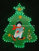 christmas tree with snowman images