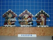 santa,snowman ,deer wooden bird house 3/s images