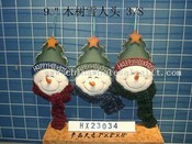 wooden-tree-snowman head 3/s images