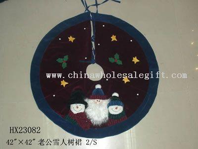 santa&snowman tree-skirt 2/s