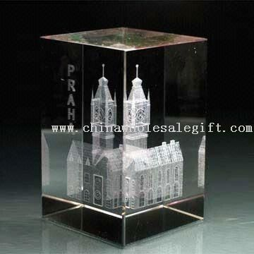 Engraved 3-D or 2-D Picture Inside Crystal