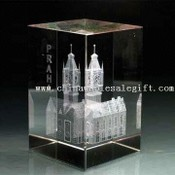Engraved 3-D or 2-D Picture Inside Crystal images