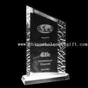 Sculptured edge award Crystal Award with Interior Engraving Work images