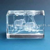 Crystal Laser Gift-Two Bears images