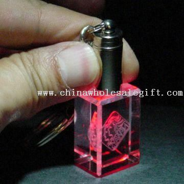 Crystal Keychain with LED Light
