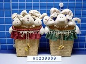 three-white hare head in basket 2/s images