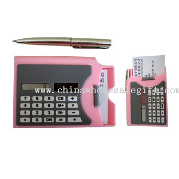 Solar Calculator with Business Card Holder