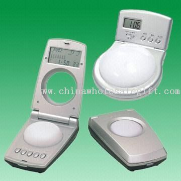 LCD Combination Calandar with Mini Touch-on Lamp