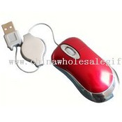 Mini optical mouse with recharctable USB cable images