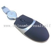 Mini optical mouse with retractable USB cable images