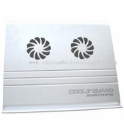 Cooler Pad with 2 fans in Aluminum with USB HUB images